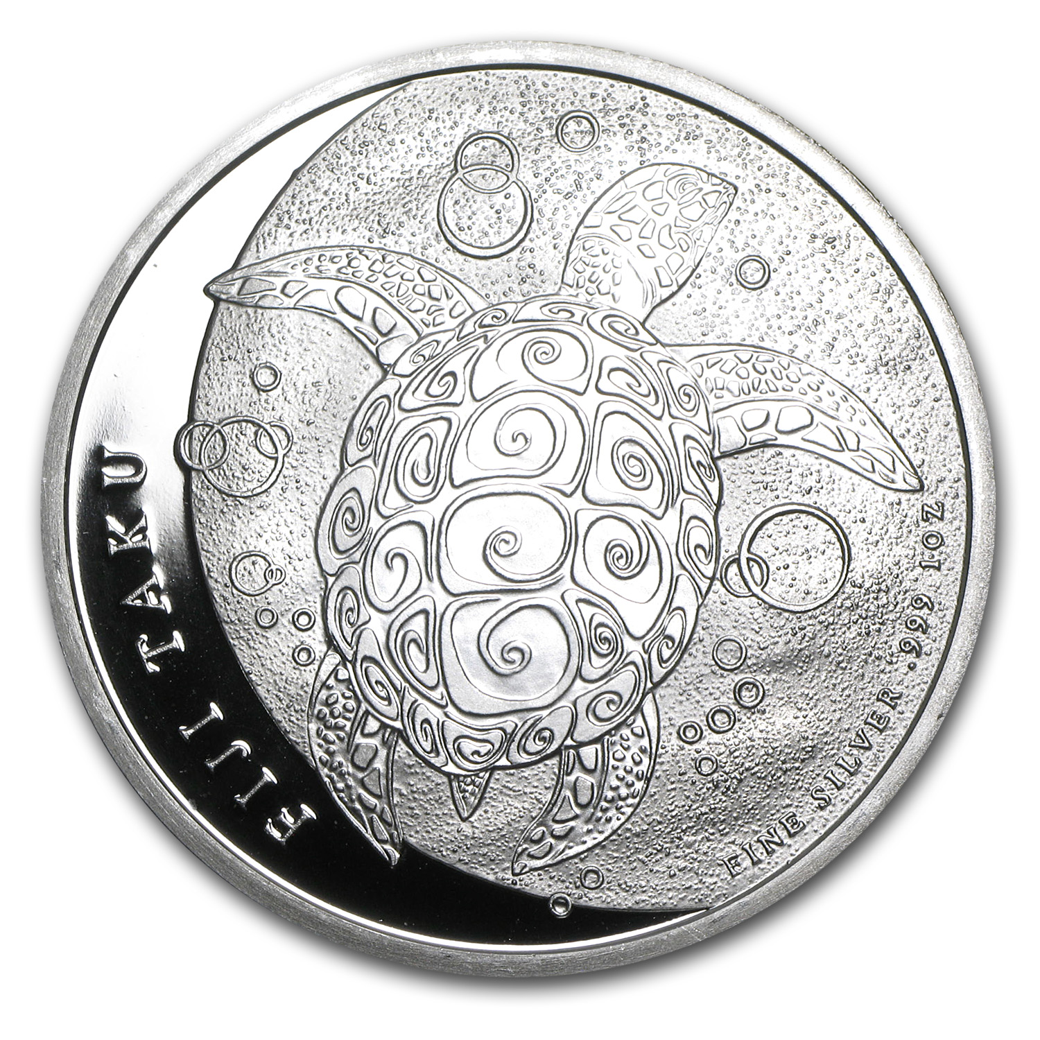 2011 1 oz Silver New Zealand Mint $2 Fiji Taku