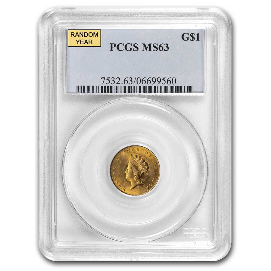 $1 Indian Head Gold Type 2 MS-63 NGC/PCGS