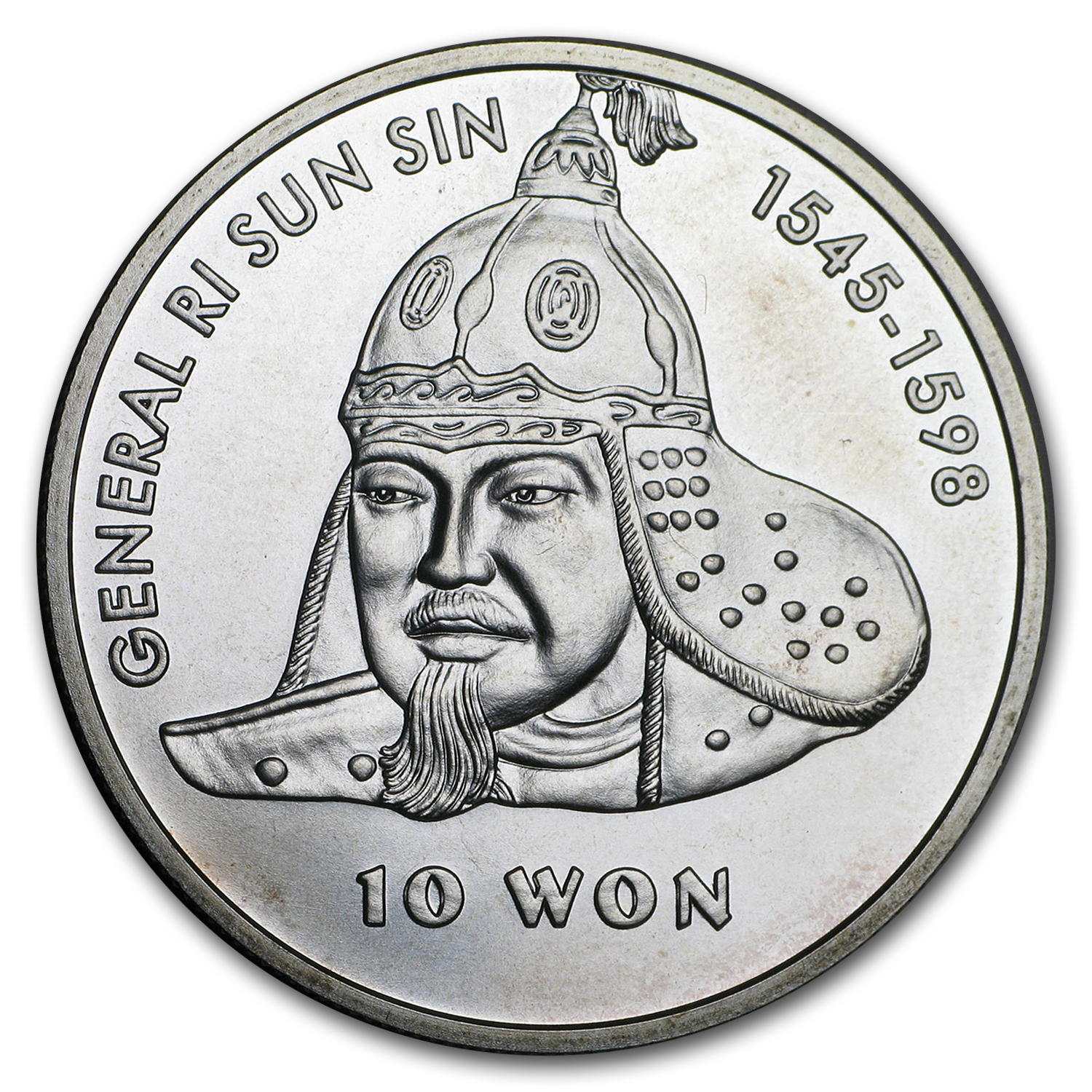 North Korea 2001 10 Won BU Silver Coin ASW .9237