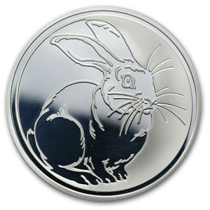 2011 Russia 1 oz Silver Year of the Rabbit Proof