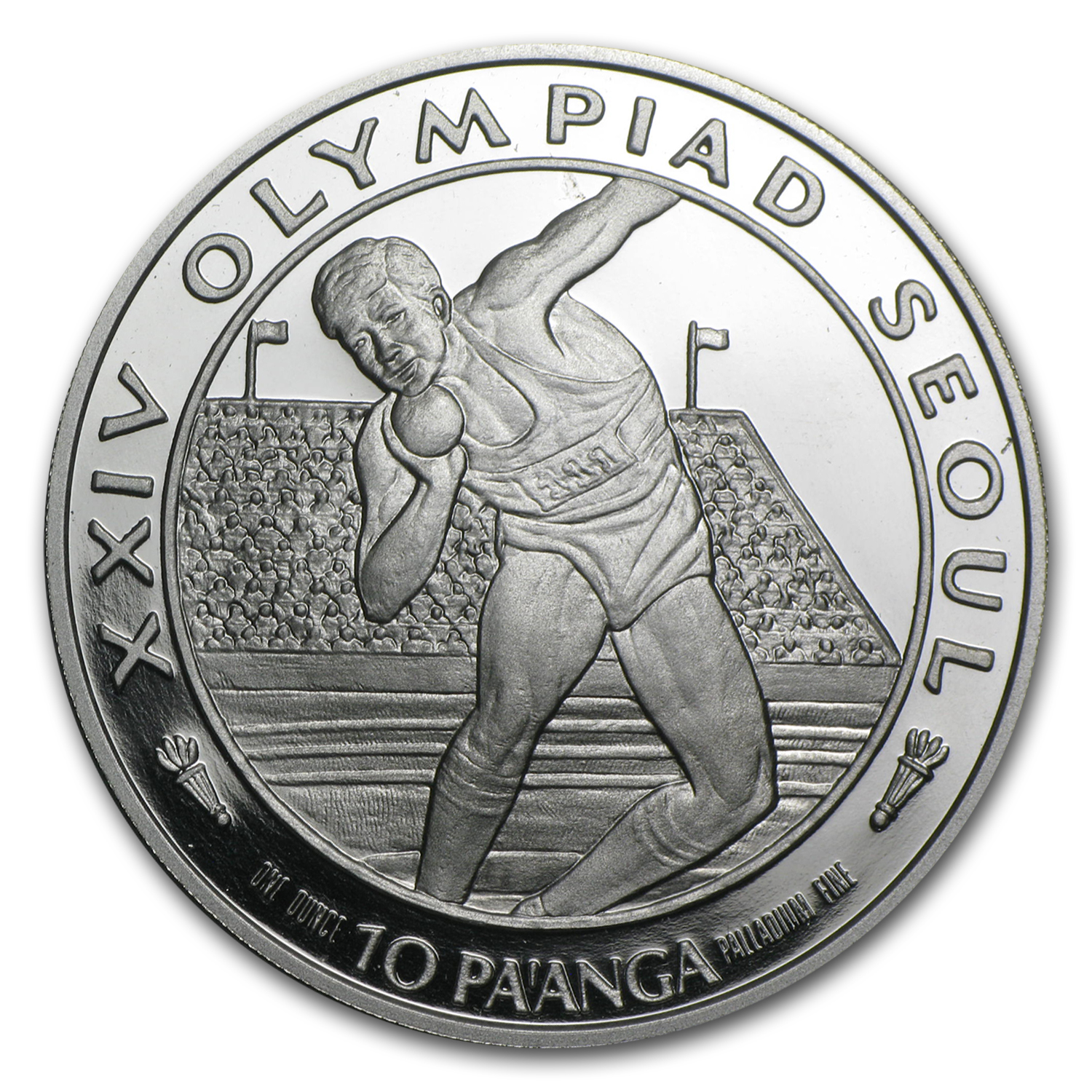 1988 1 oz 10 Pa'anga Palladium 10 Pa'anga (Proof)