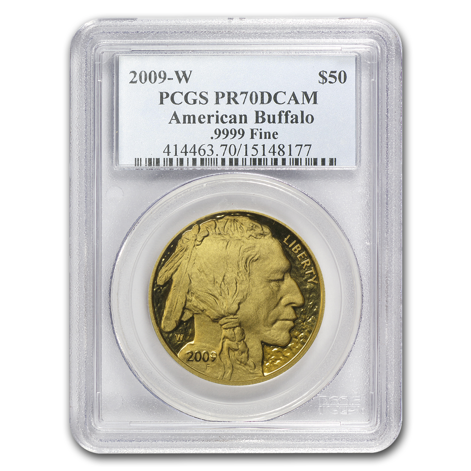 2009-W 1 oz Proof Gold Buffalo PR-70 PCGS