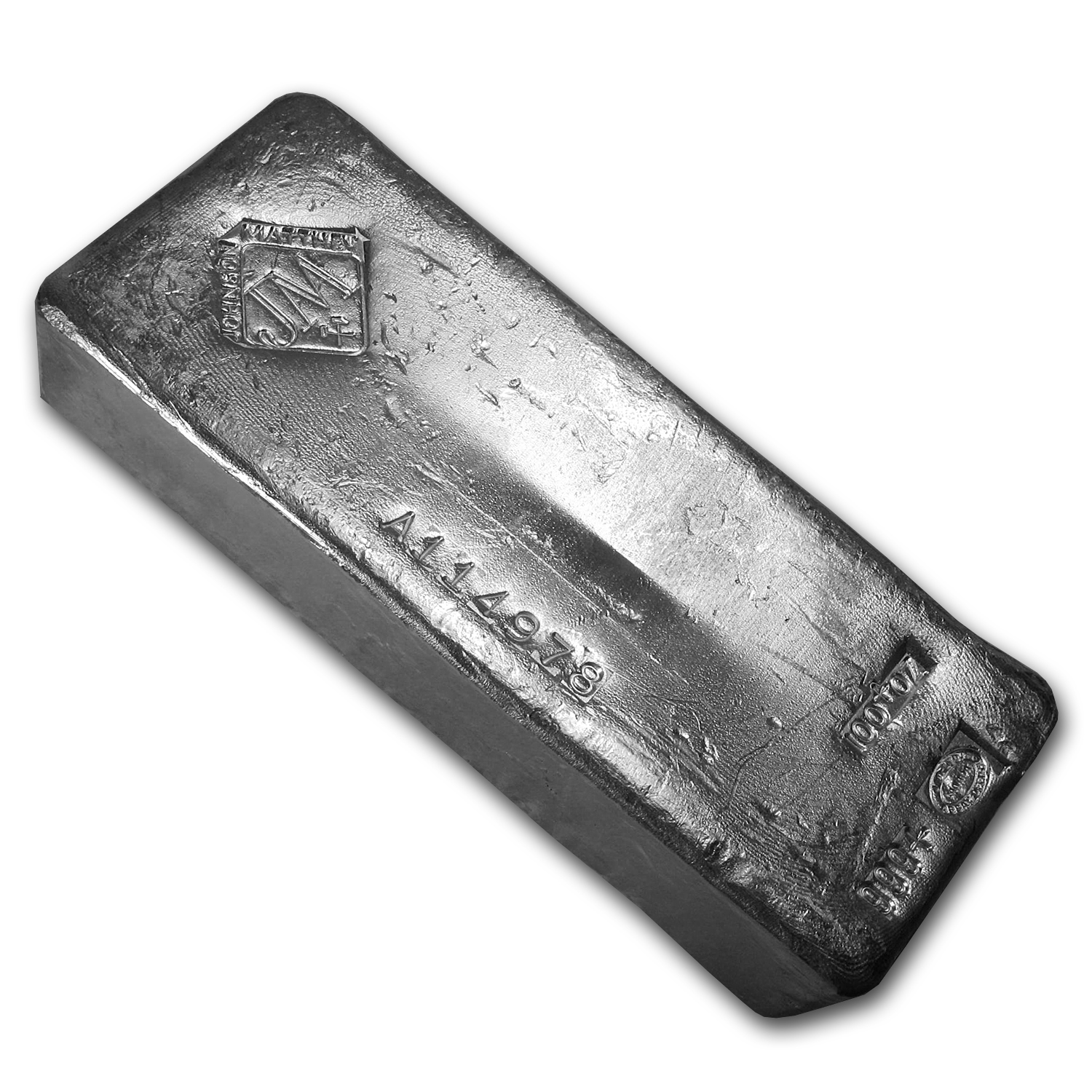 100 oz Silver Bar - Johnson Matthey (Canada, Serial #)