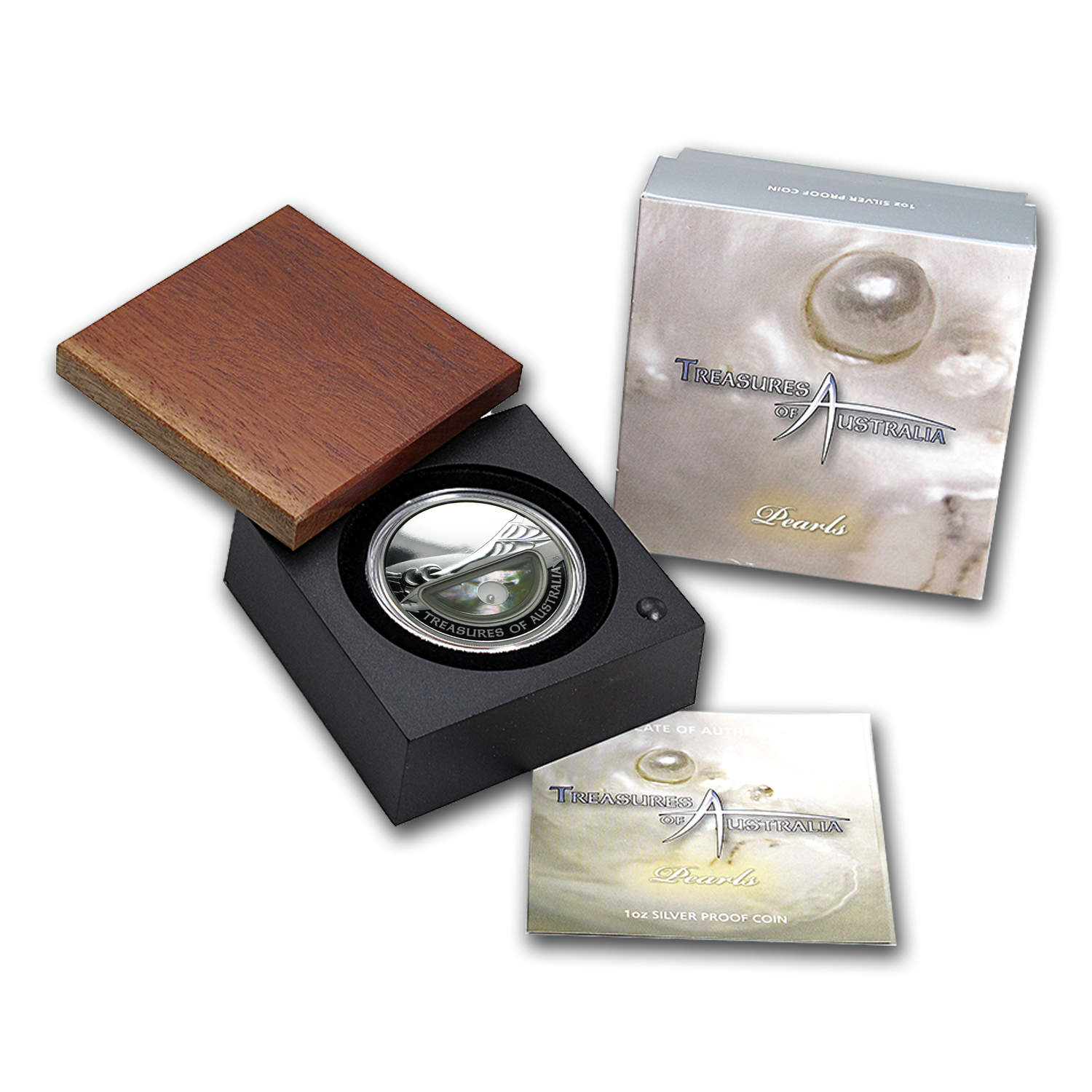 2011 1 oz Silver Treasures of Australia Proof (Pearl)