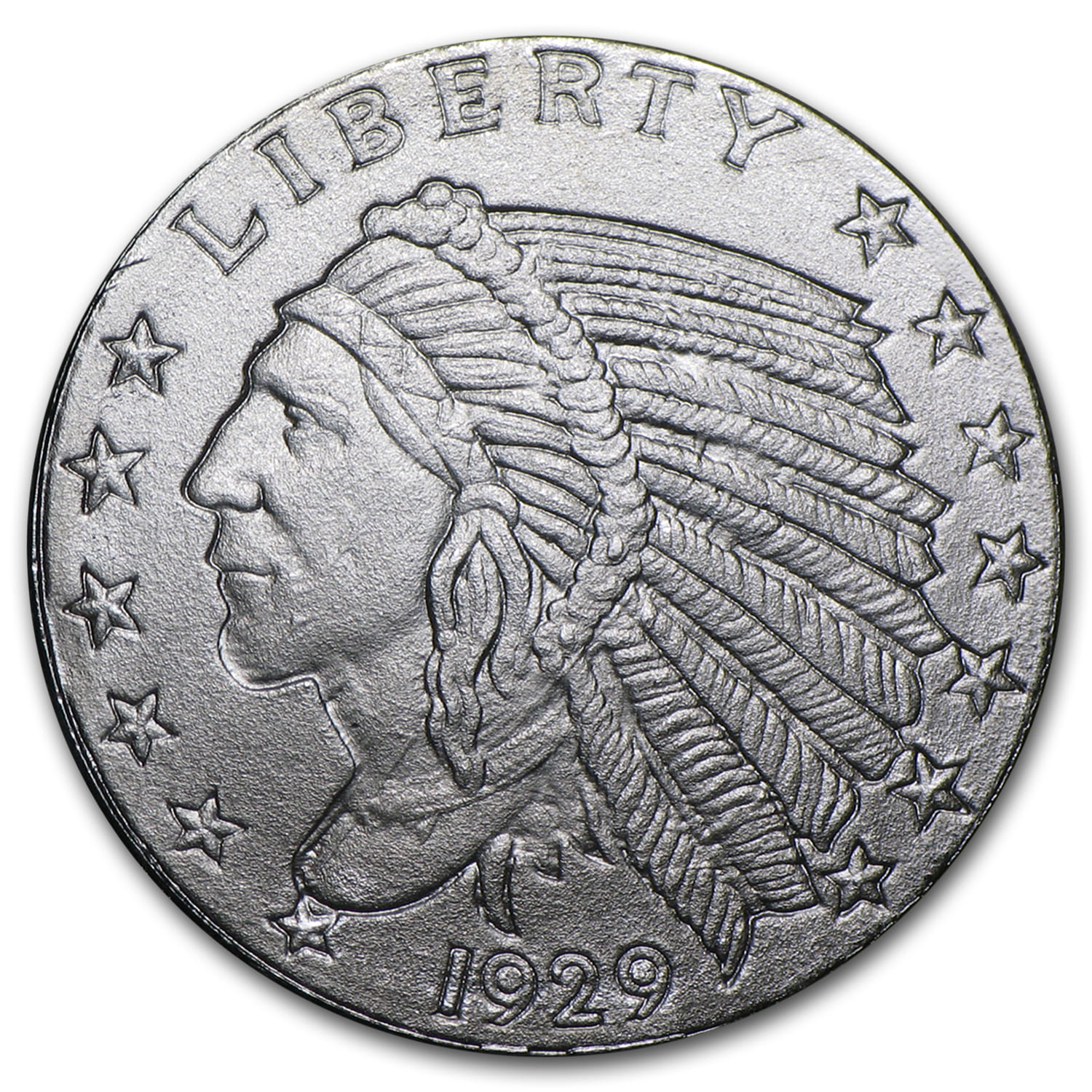 1/10 oz Silver Round - Incuse Indian