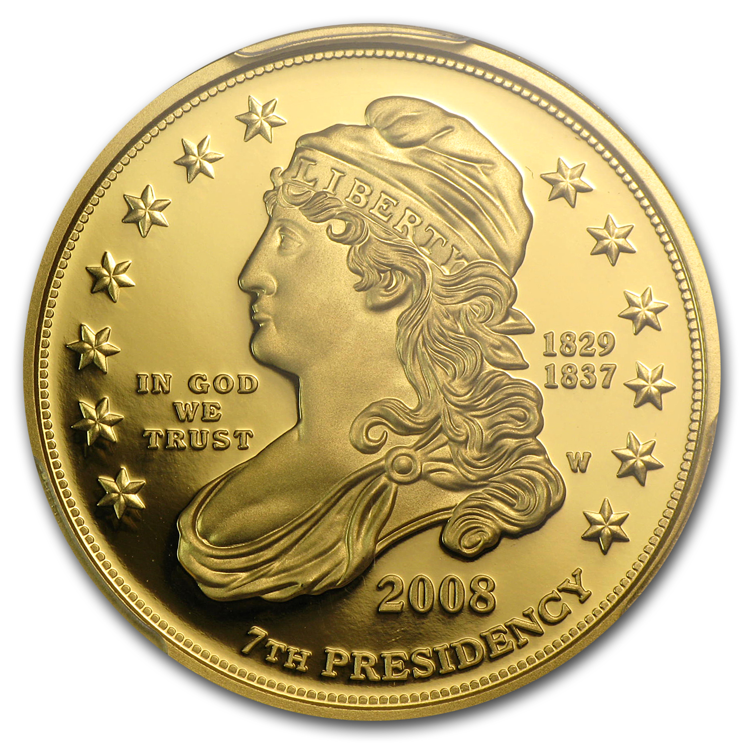 2008-W 1/2 oz Proof Gold Jackson's Liberty PR-70 PCGS