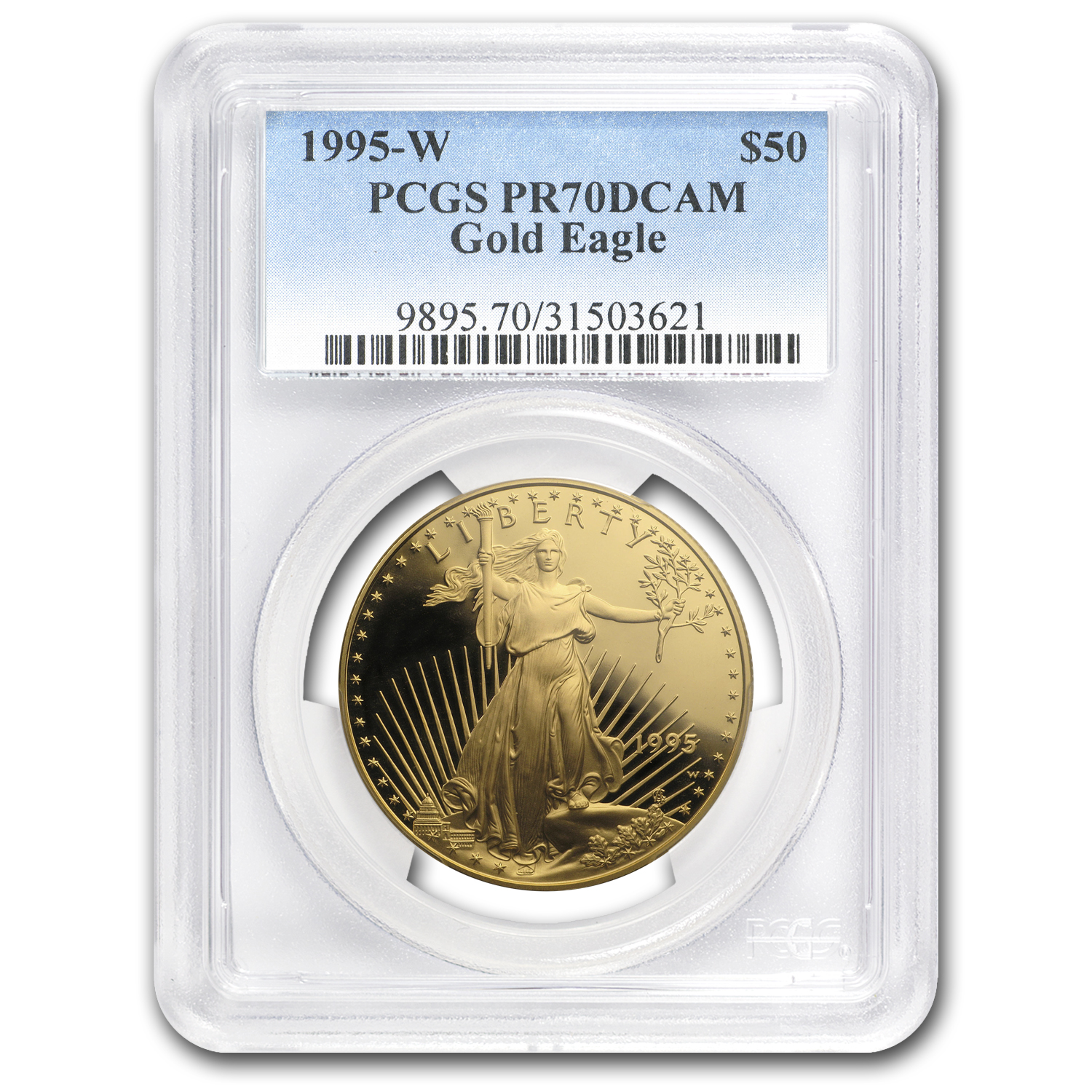 1995-W 1 oz Proof Gold American Eagle PR-70 PCGS