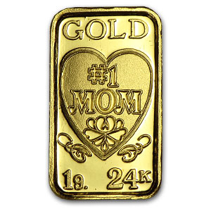 1 gram Gold Bar - #1 Mom Design
