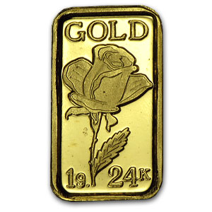 1 gram Gold Bars - Rose