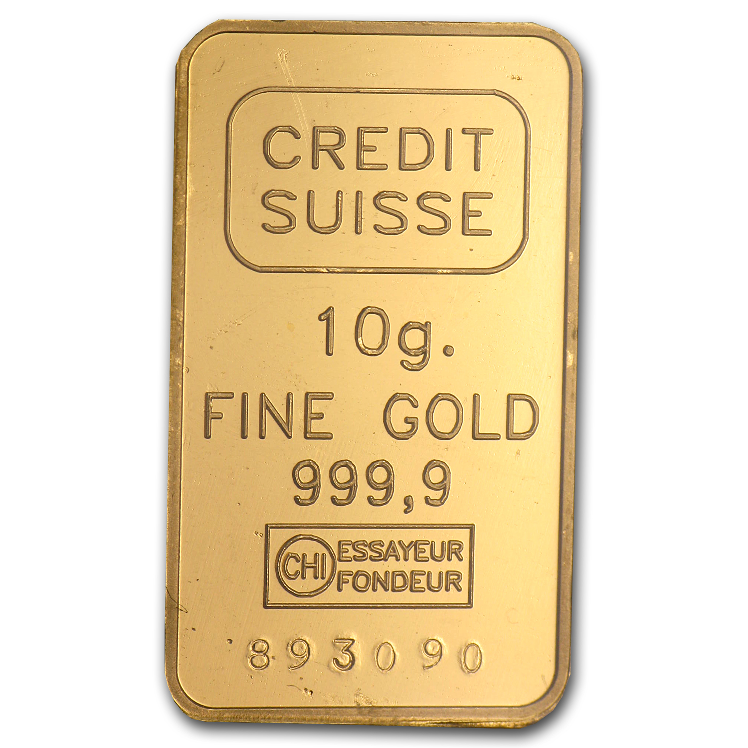 10 gram Gold Bars - Credit Suisse (HILTI Design) (In Assay)