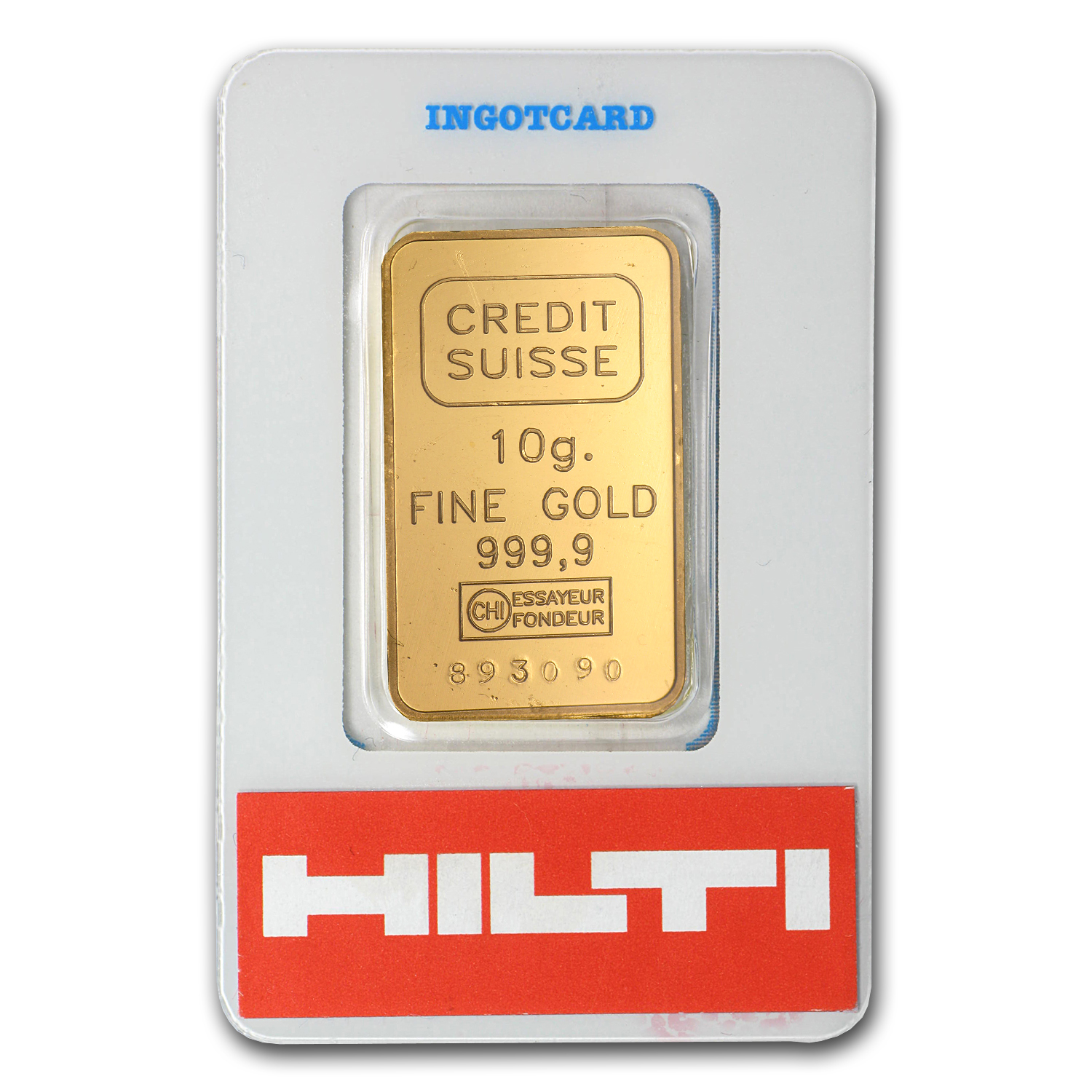 10 gram Gold Bar - Credit Suisse HILTI (In Assay)