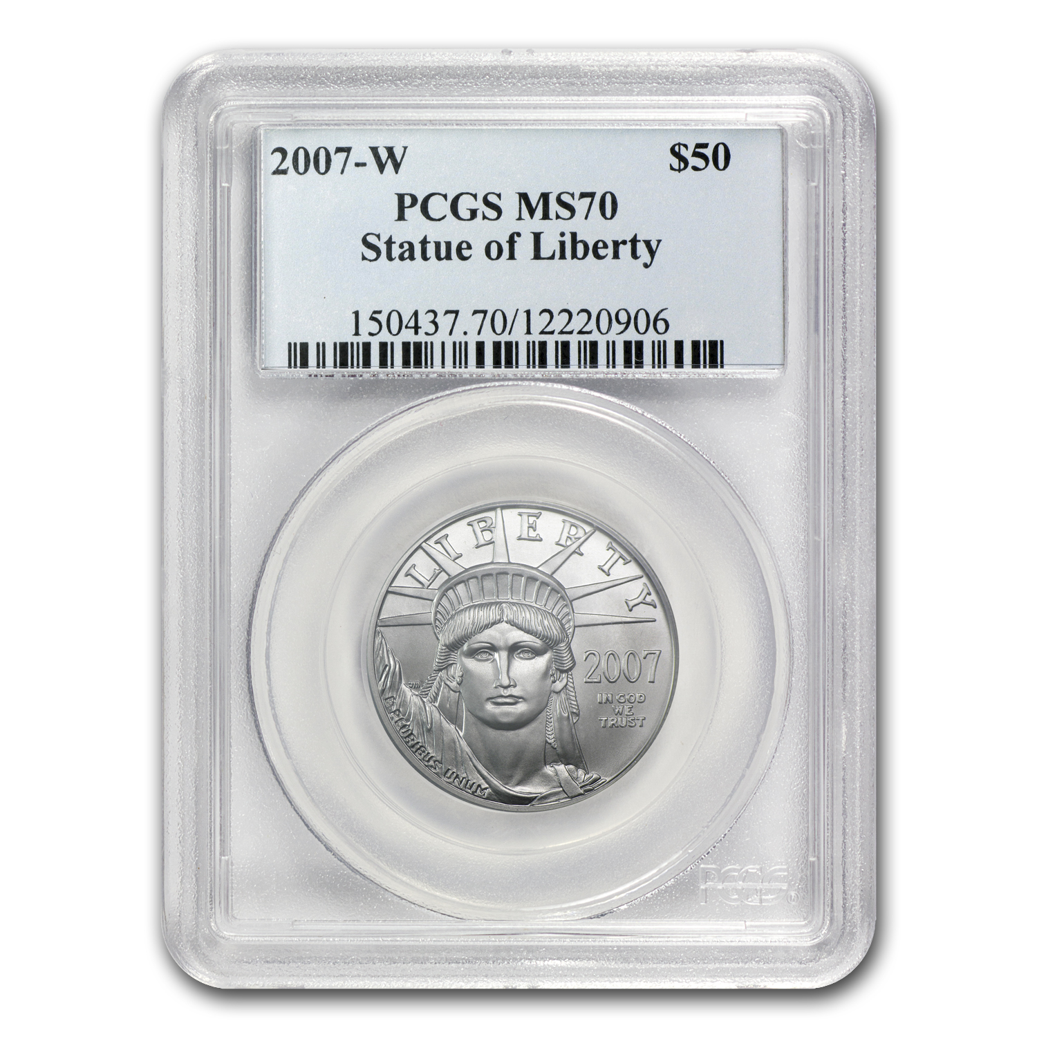2007-W 1/2 oz Burnished Platinum American Eagle MS-70 PCGS