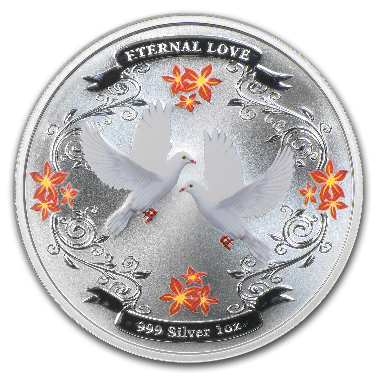 2011 Niue 1 oz Silver $2 Eternal Love Proof (w/Box & COA)
