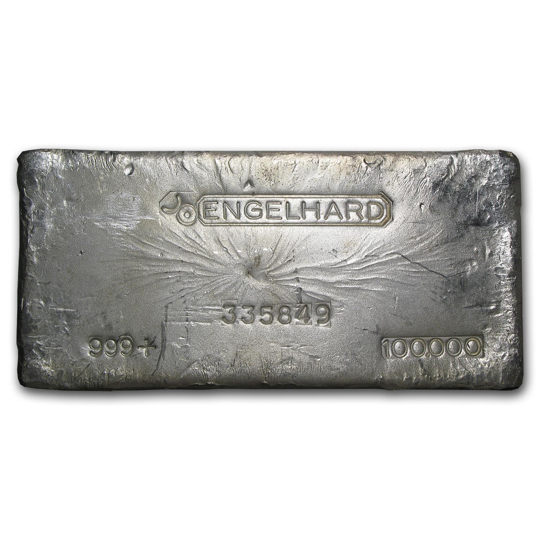 100 Oz Silver Bar Engelhard Bull Logo 100 Oz Silver