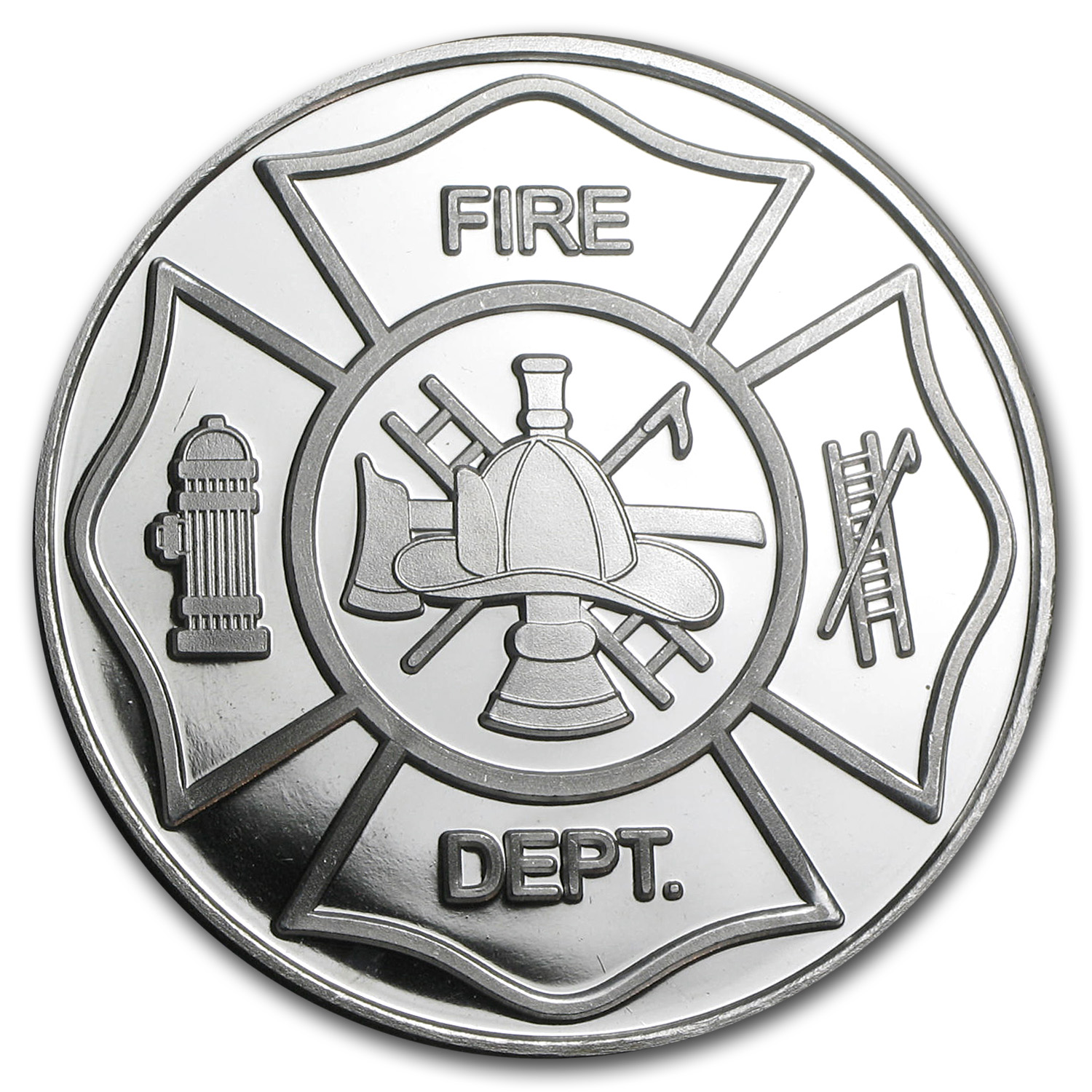 1 oz Silver Round - Fire Department (w/Box & Capsule)