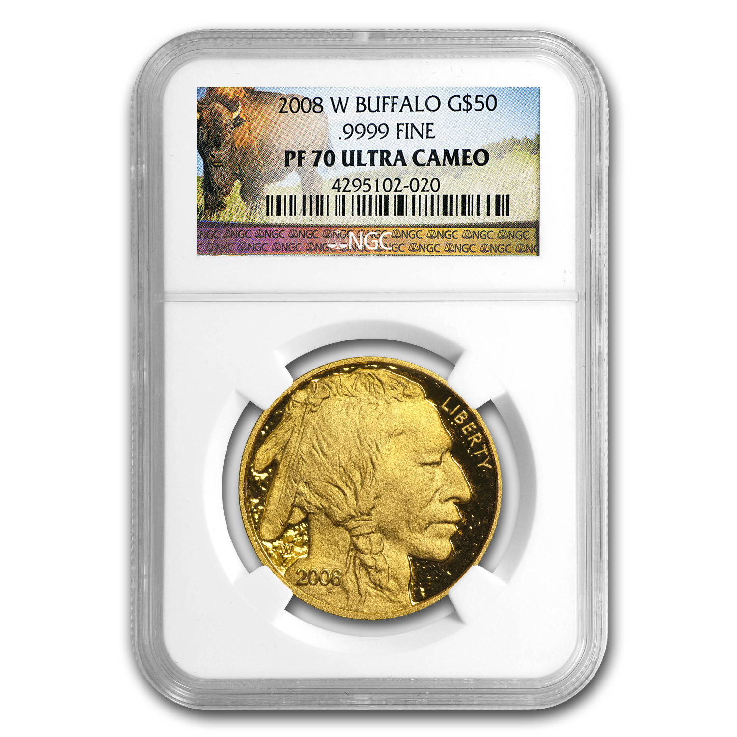 2008-W 1 oz Proof Gold Buffalo PF-70 UCAM NGC