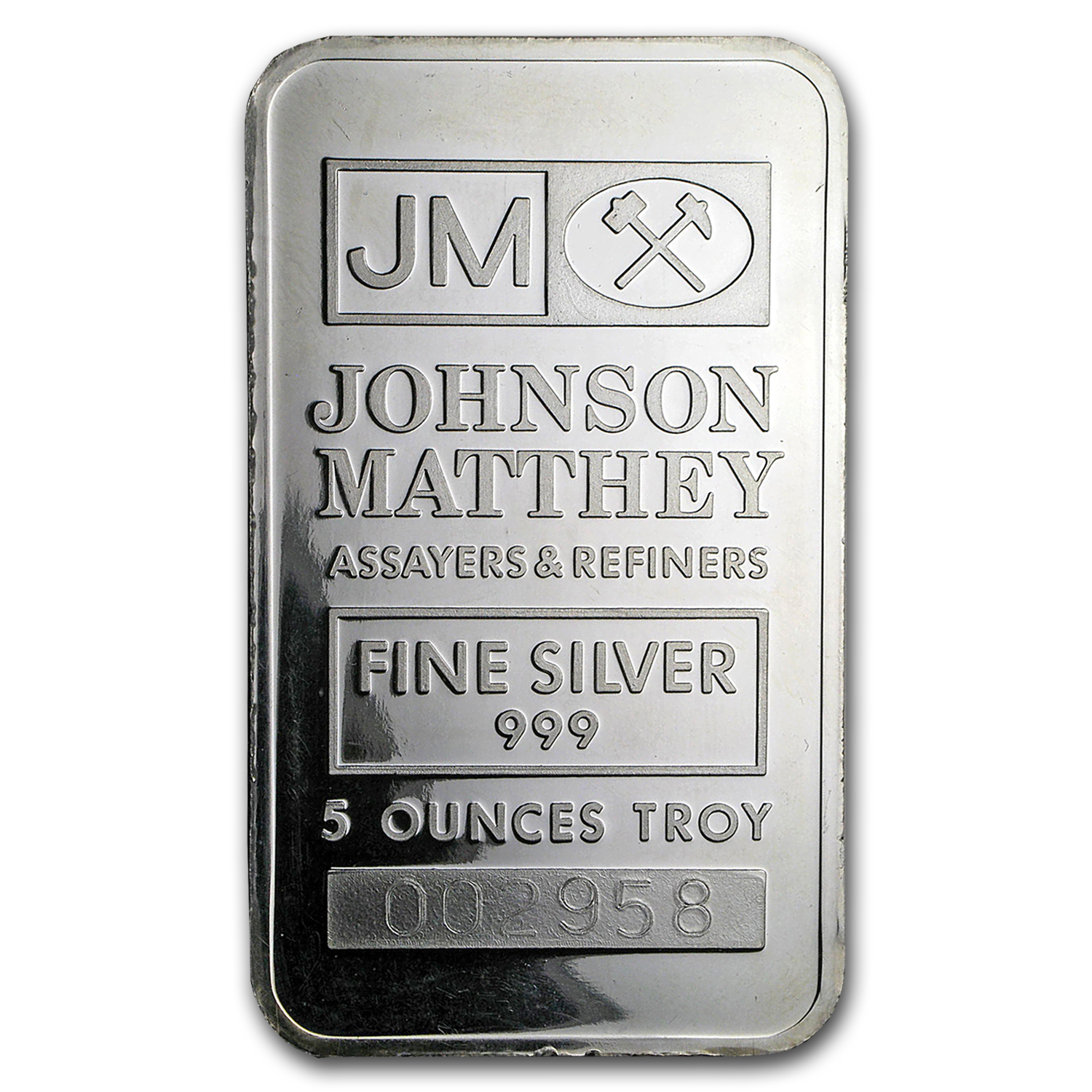 5 oz Silver Bar - Johnson Matthey (Ranchers Exploration)