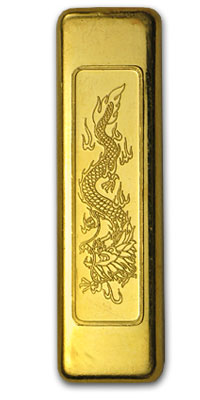 1 Tael Gold Bar - Credit Suisse (1.206 oz Chinese Art Bar)