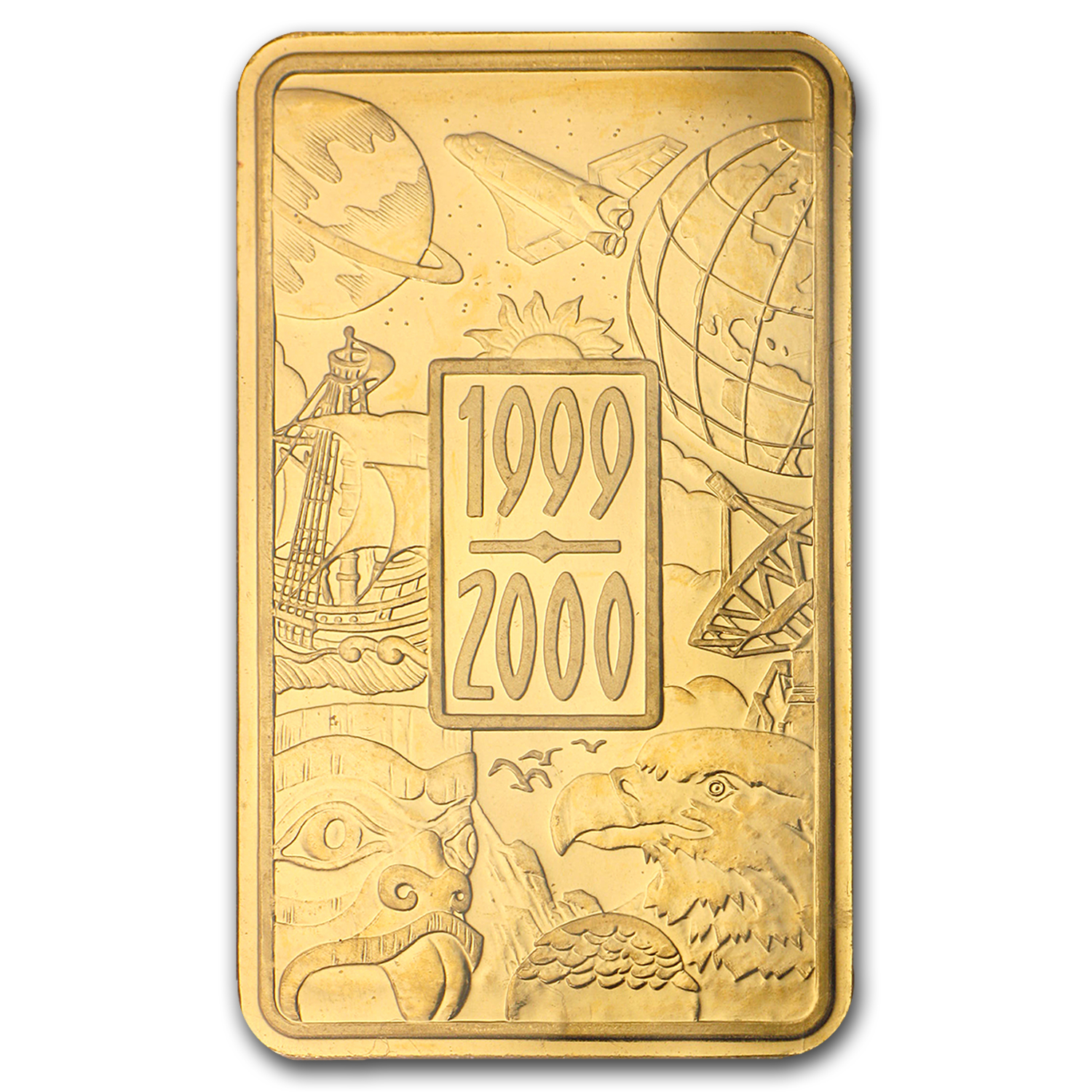 1 oz Gold Bar - Royal Canadian Mint RCM (1999/2000)