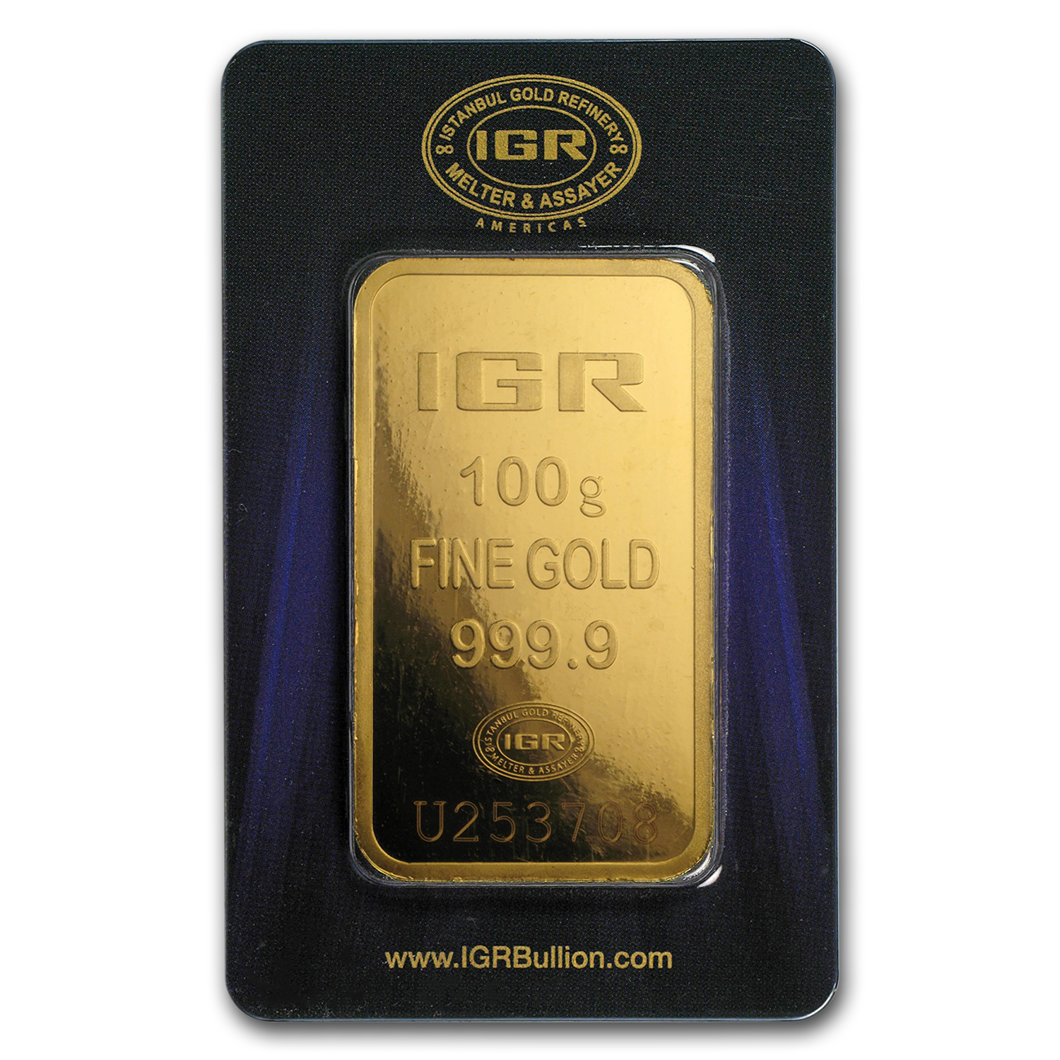 100 gram Gold Bars - Istanbul Gold Refinery (In Assay)