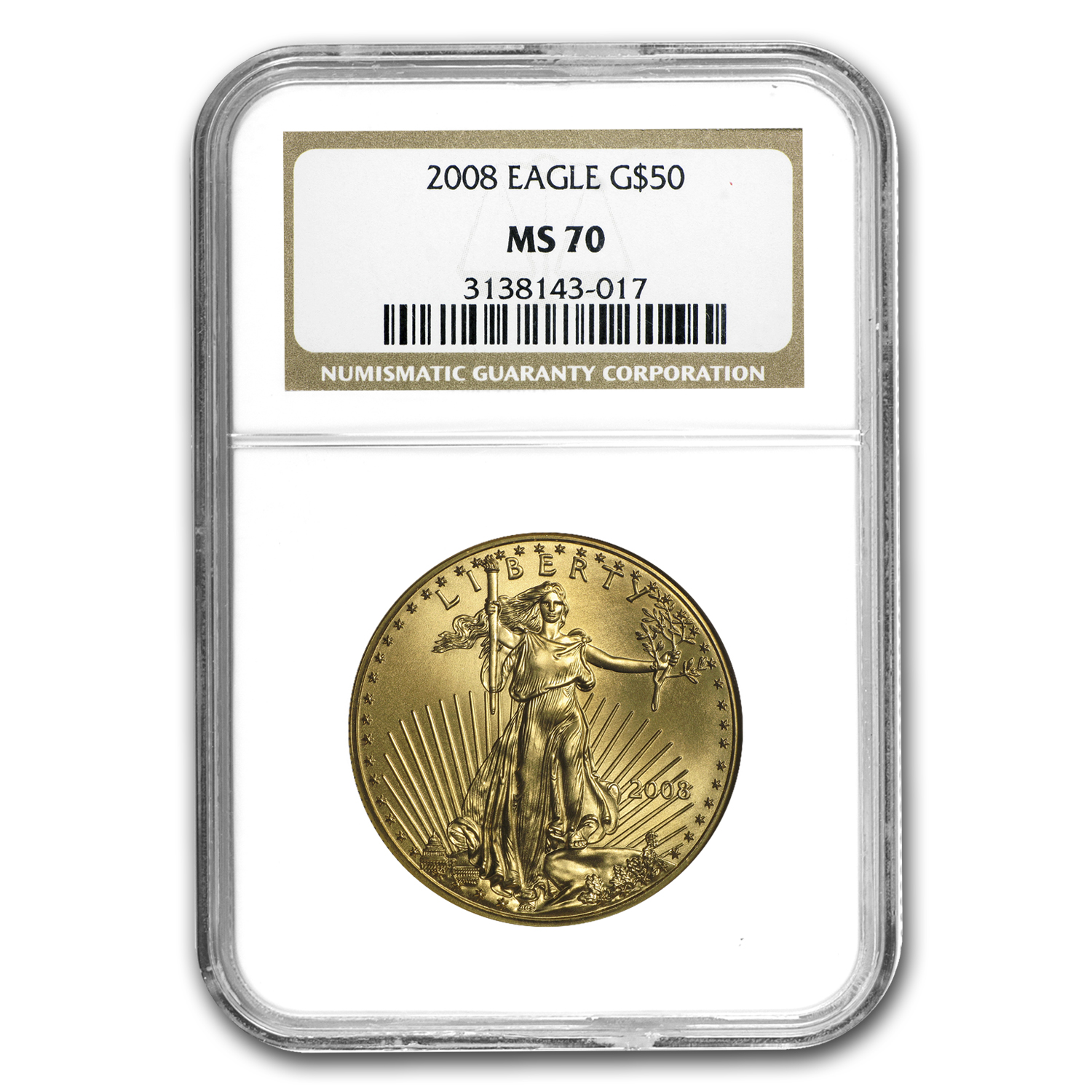2008 4-Coin Gold American Eagle Set MS-70 NGC