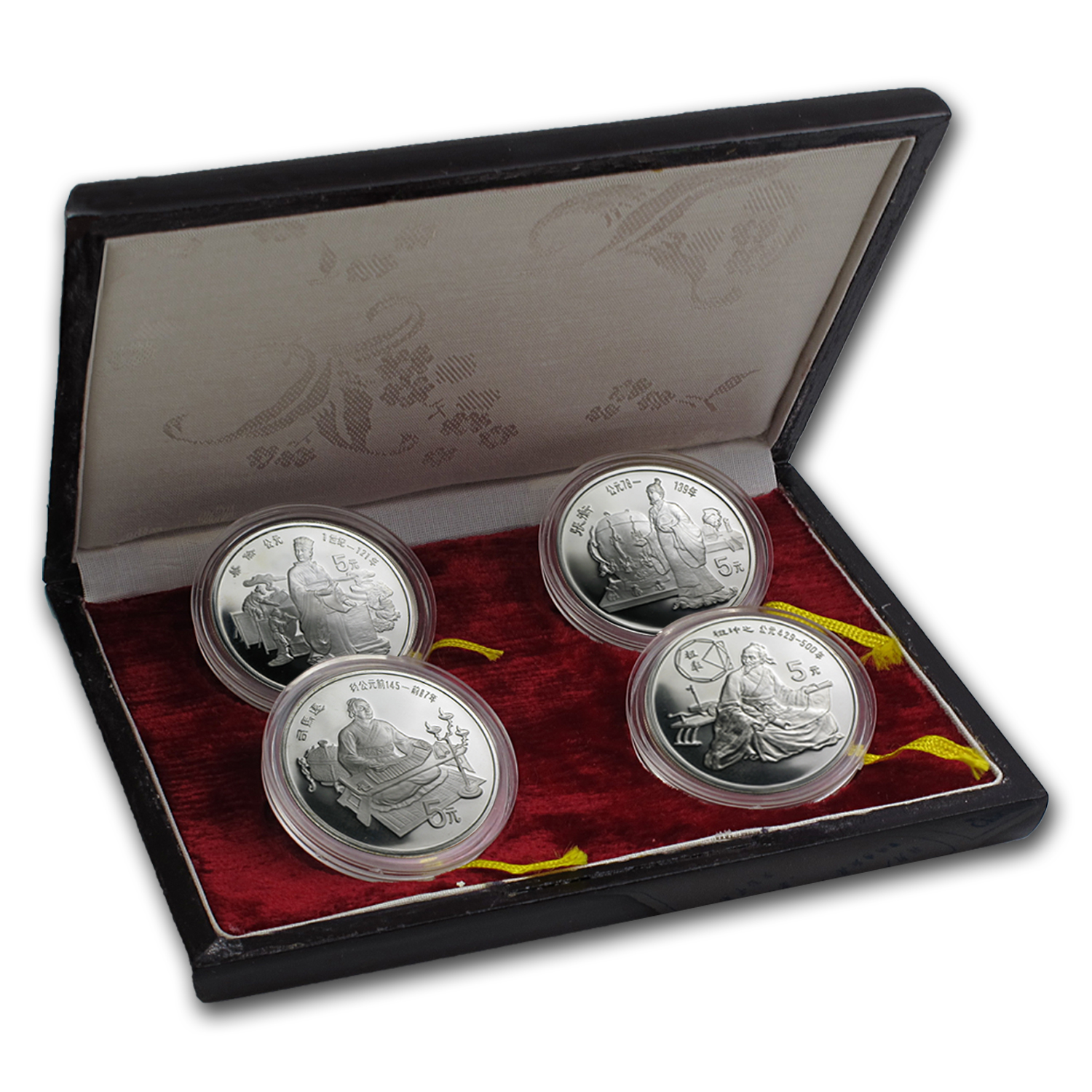 1986 China 4-Pc Silver Historical Figures Proof Set