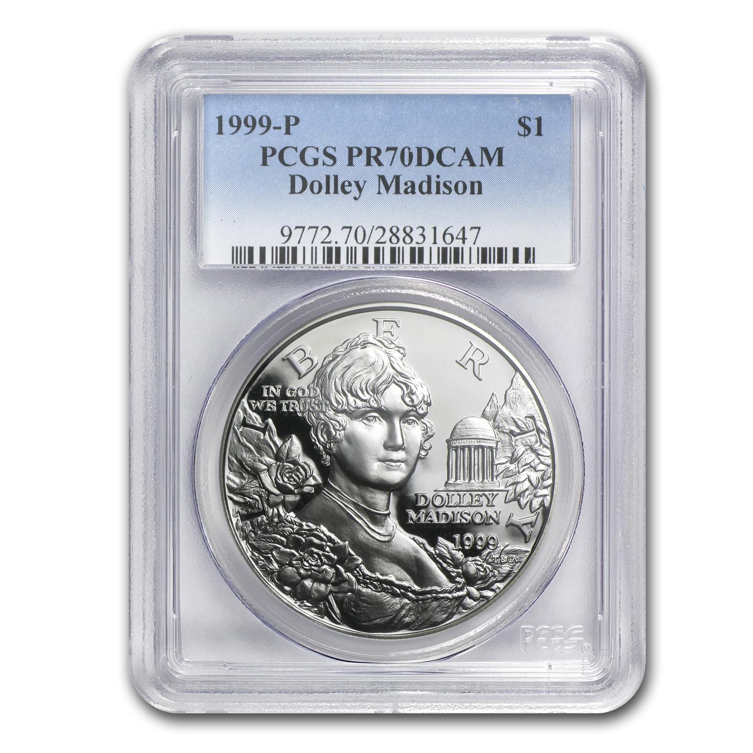 1999-P Dolley Madison $1 Silver Commem PR-70 PCGS