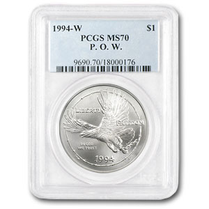 1994-W Prisoner of War $1 Silver Commem MS-70 PCGS