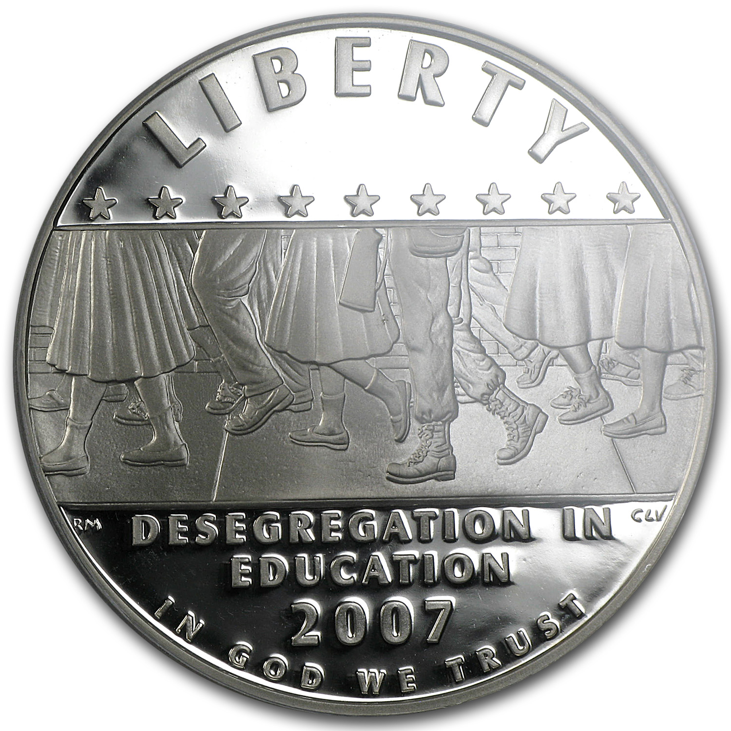 2007-P School Desegregation $1 Silver Commem PR-70 PCGS