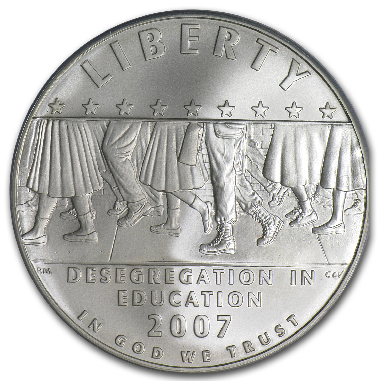 2007-P School Desegregation $1 Silver Commemorative MS-70 PCGS
