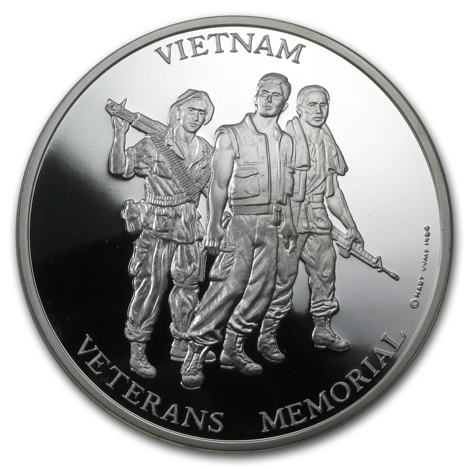 5 oz Silver Rounds - Vietnam Veterans Memorial Medal