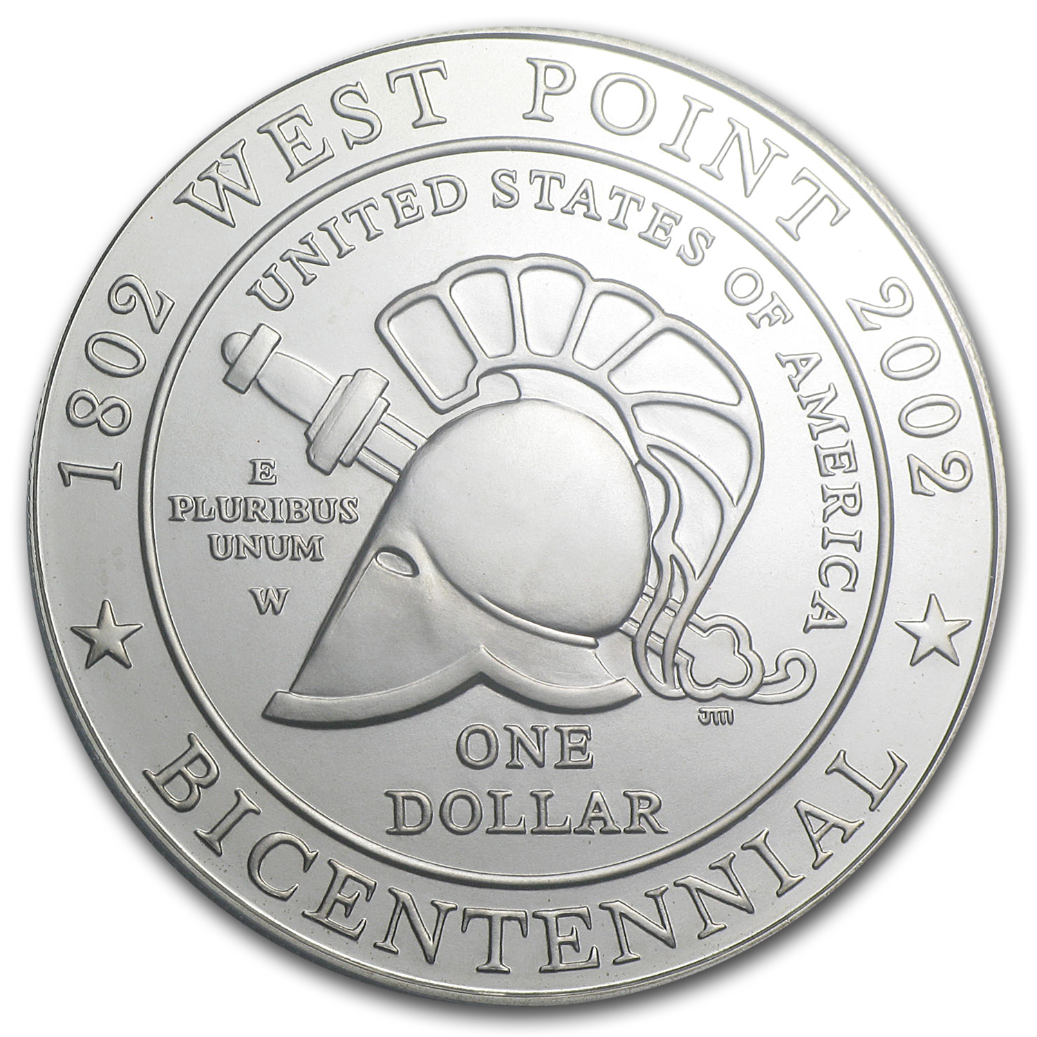 2002-W West Point Bicentennial $1 Silver Commemorative MS-70 PCGS