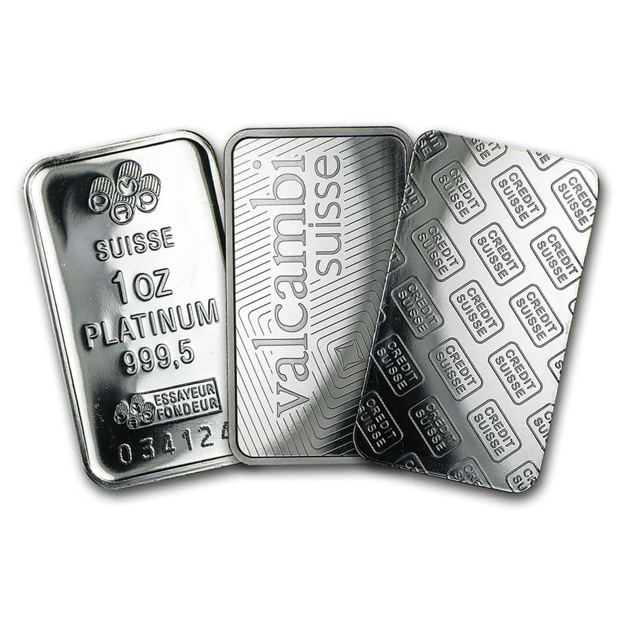1 oz Platinum Bar - Secondary Market (.999+ Fine)