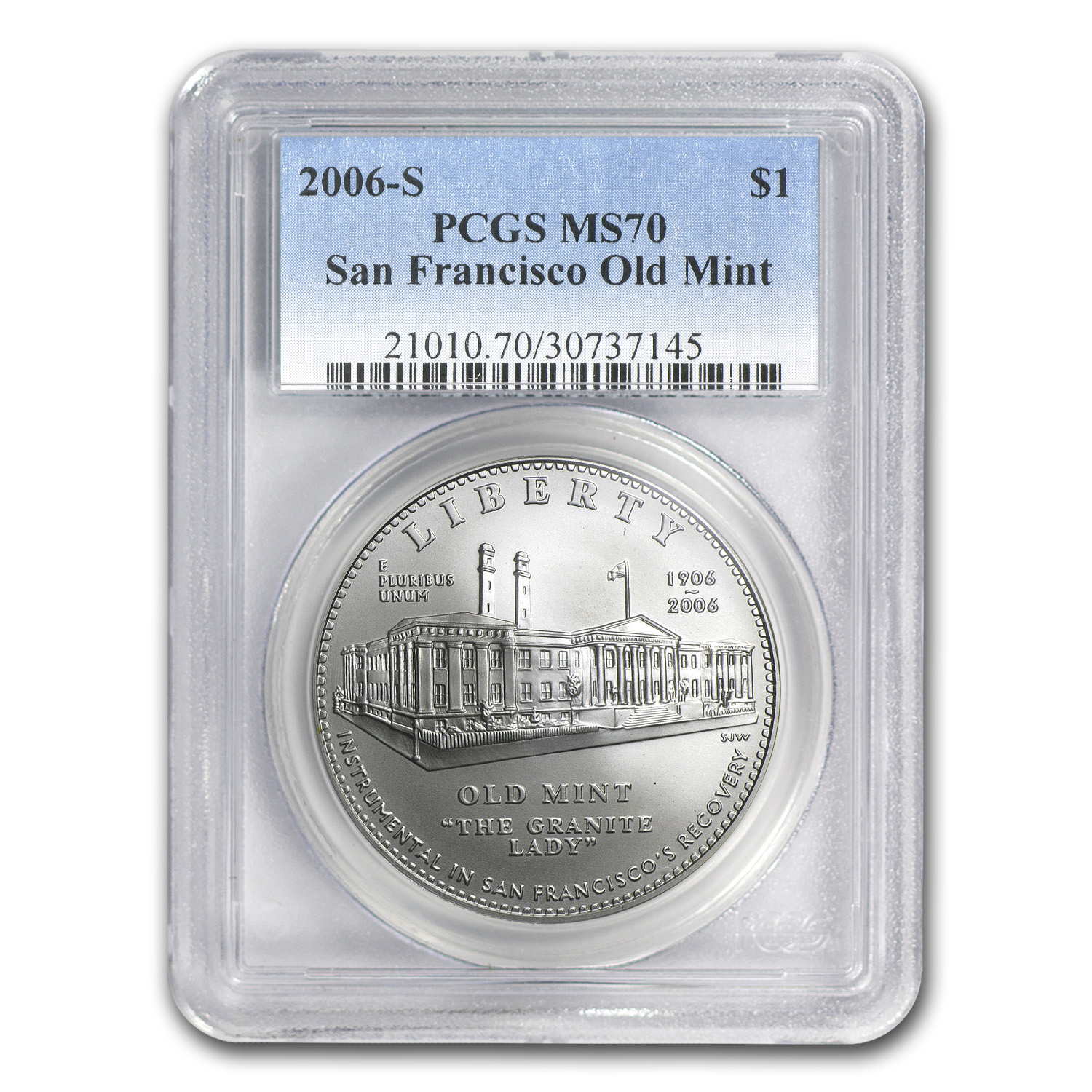 2006-S San Francisco Old Mint $1 Silver Commem MS-70 PCGS