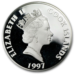 1997 Cook Islands Silver $50 History by Century Proof