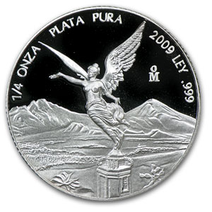 2009 Mexico 1/4 oz Silver Libertad Proof (In Capsule)