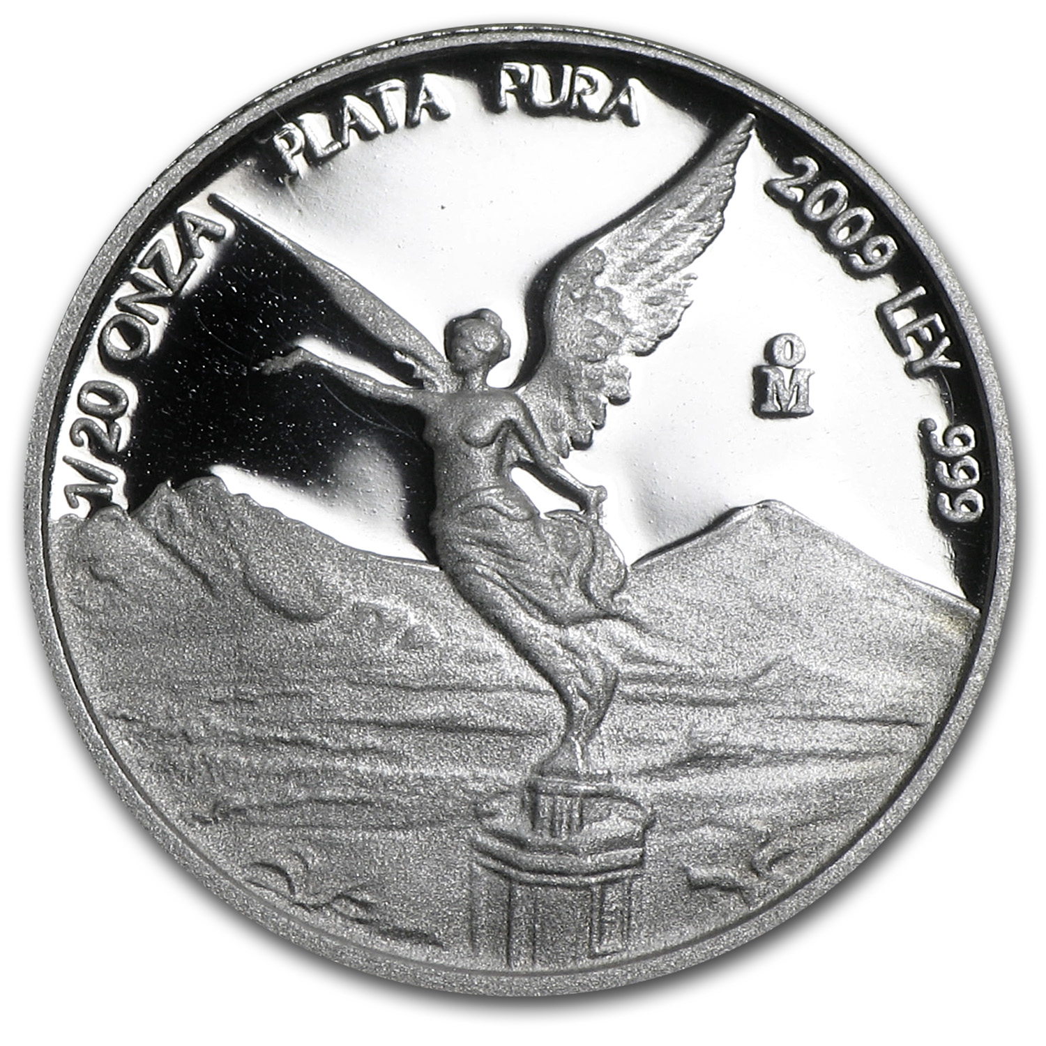 2009 Mexico 1/20 oz Silver Libertad Proof (In Capsule)