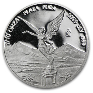 2009 1/10 oz Silver Mexican Libertad - Proof (In Capsule)