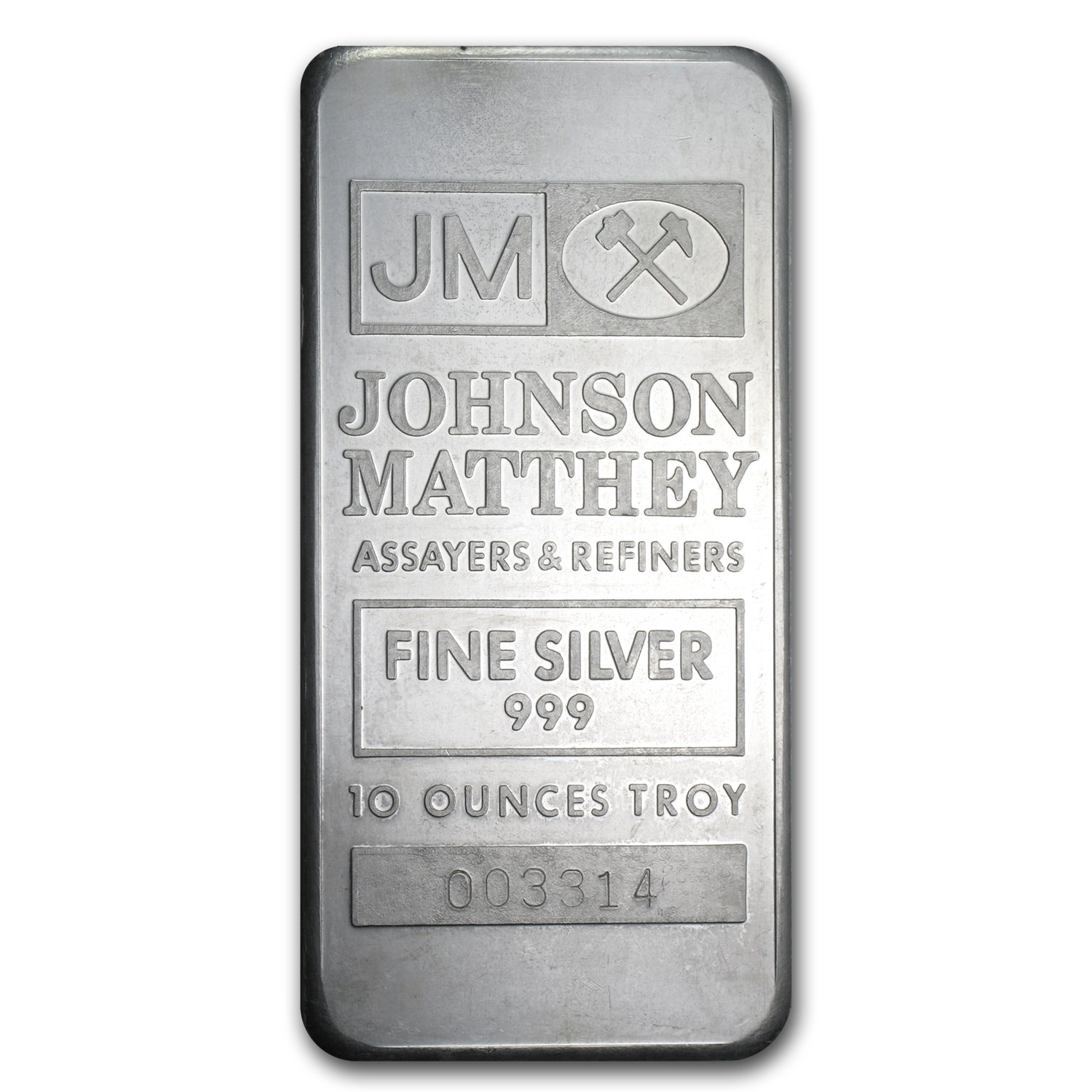 10 oz Silver Bar - Johnson Matthey (Ranchers Exploration)