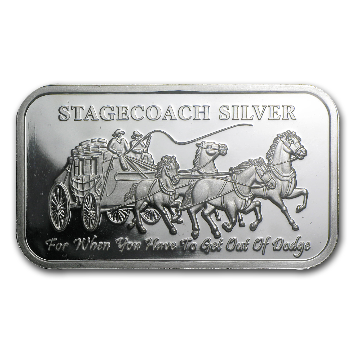 1 oz Silver Bar - Stagecoach (Fractional)