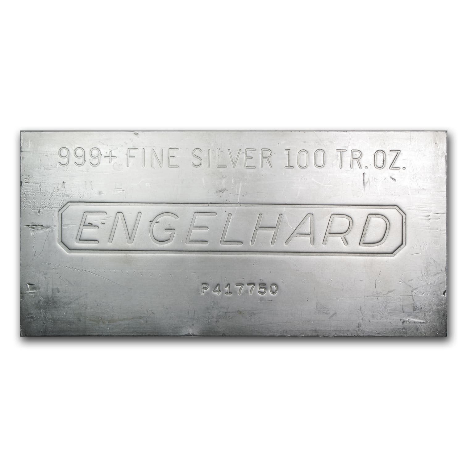 100 oz Silver Bar - Engelhard (Secondary Market)