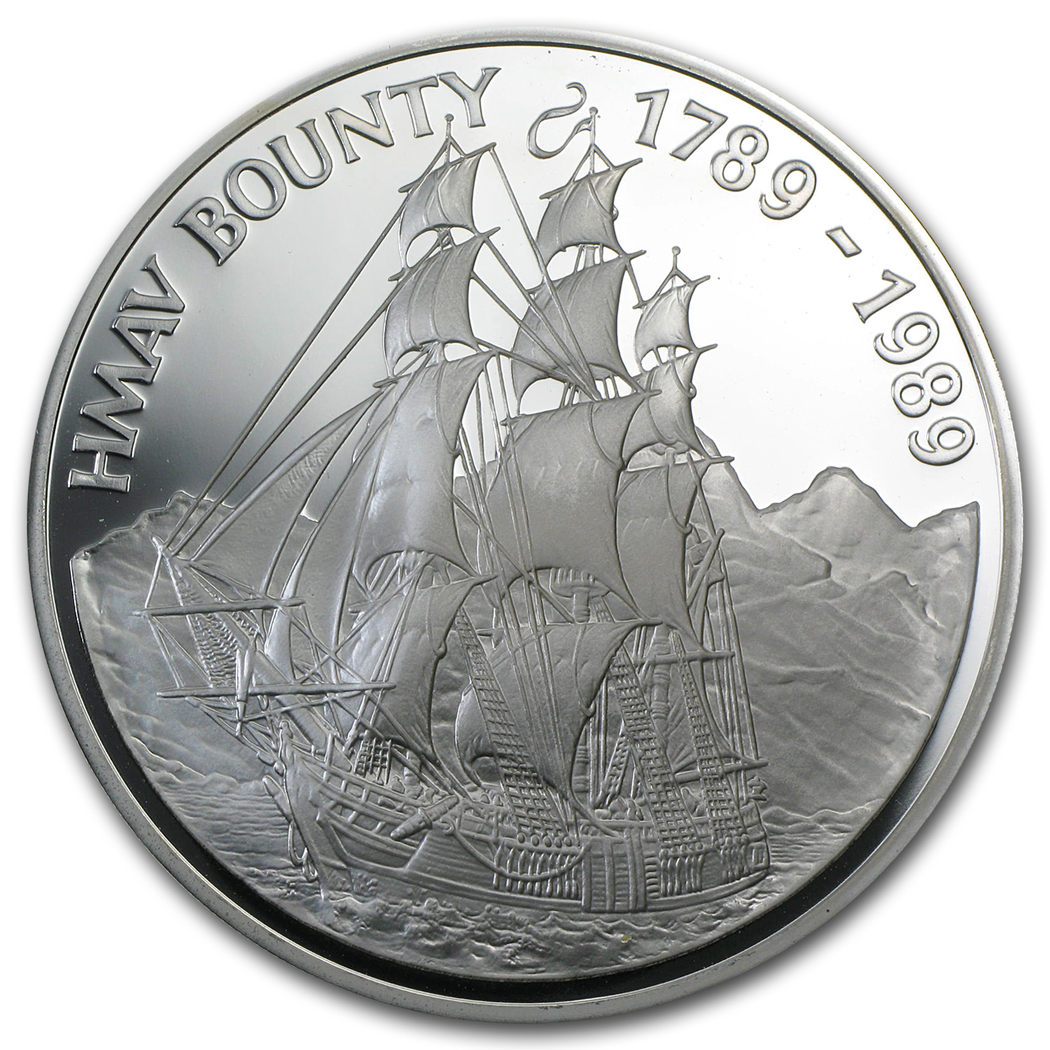 1988-1989 Pitcairn Islands Silver $50 Proof (ASW 5.0)