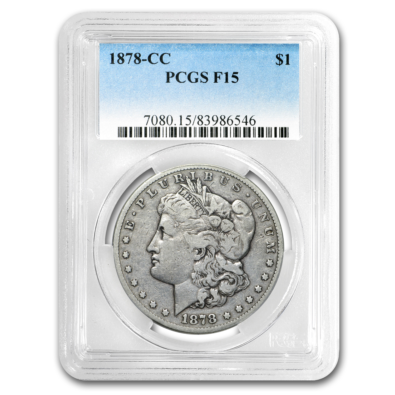 1878-CC Morgan Dollar Fine-15 PCGS