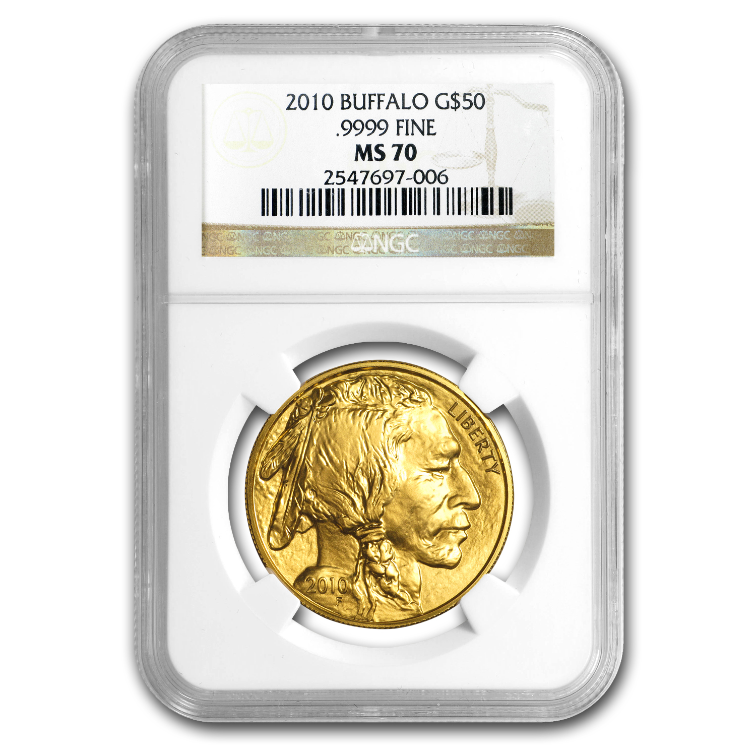 2010 1 oz Gold Buffalo MS-70 NGC
