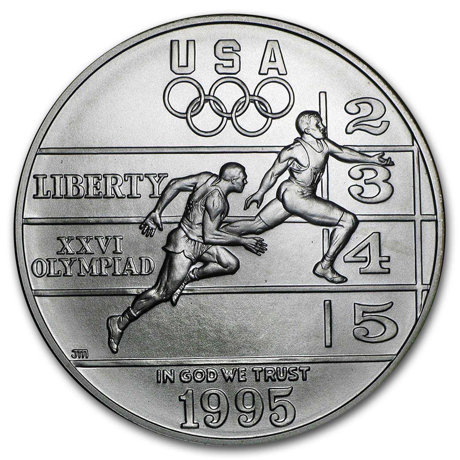 1995-D Olympic Track and Field $1 Silver Commem BU (Capsule only)