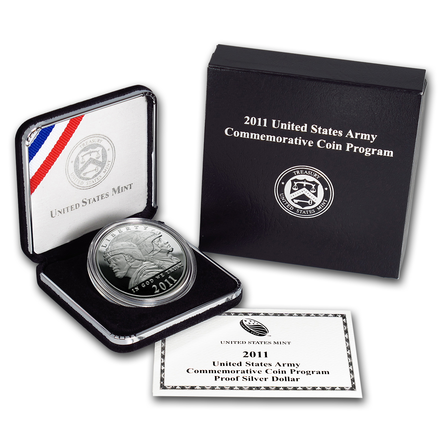 2011-P United States Army $1 Silver Commem Proof (w/Box & COA)
