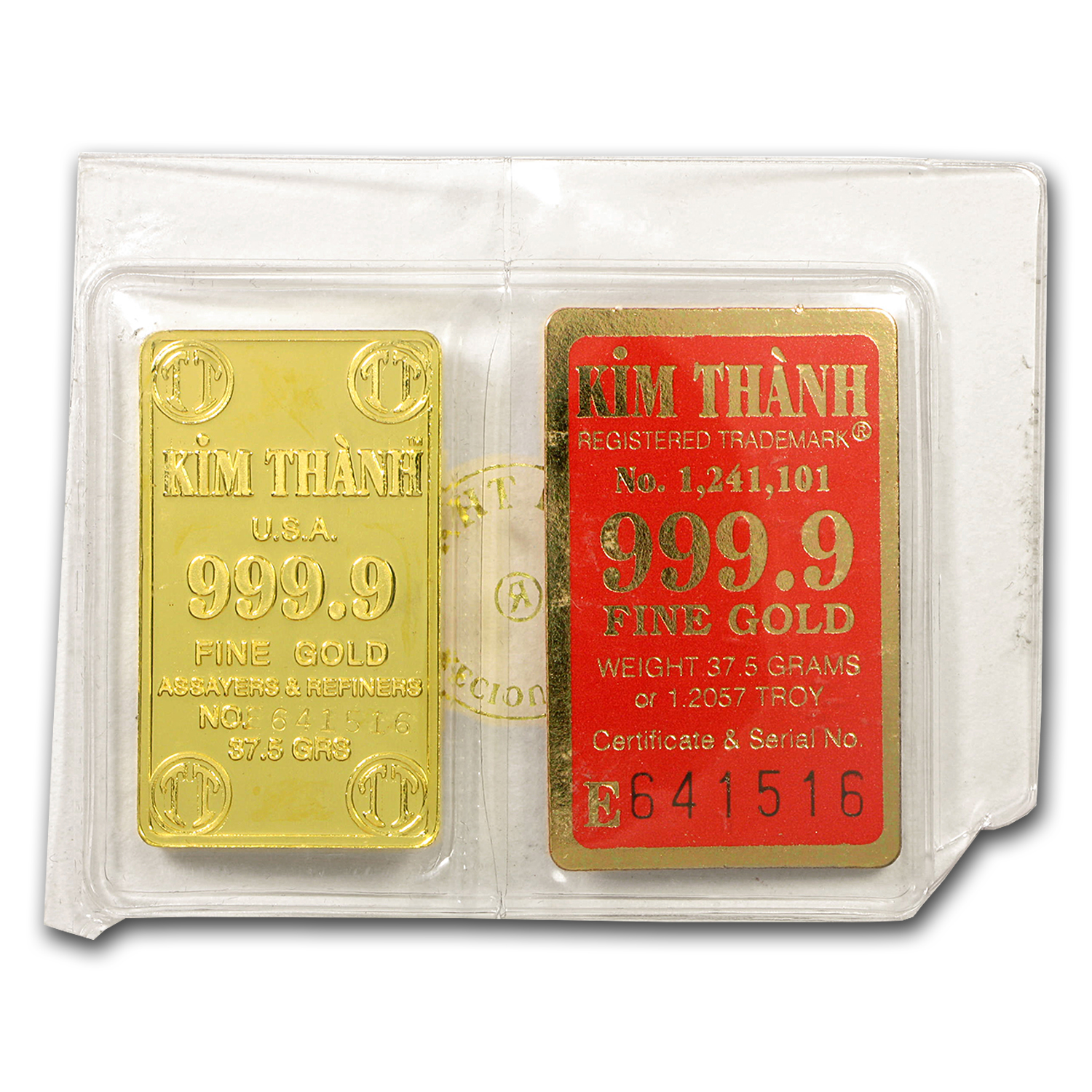 37.50 gram Gold Bar - Vietnam (Kim - Thanh)