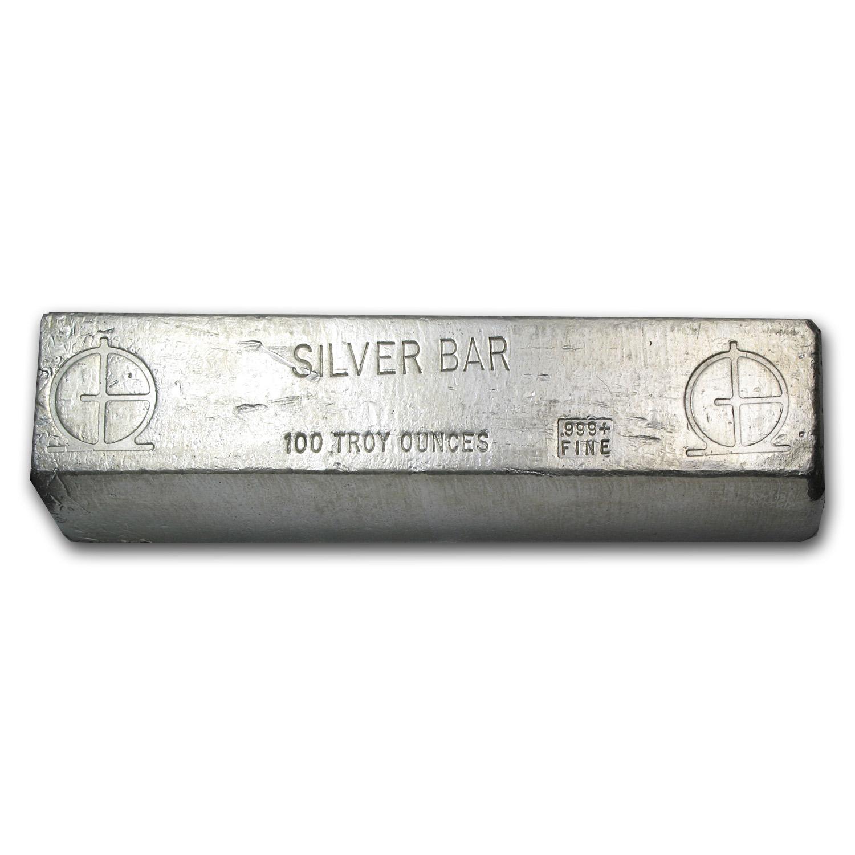 100 Oz Silver Bar Omega M Amp B Mining 100 Oz Silver