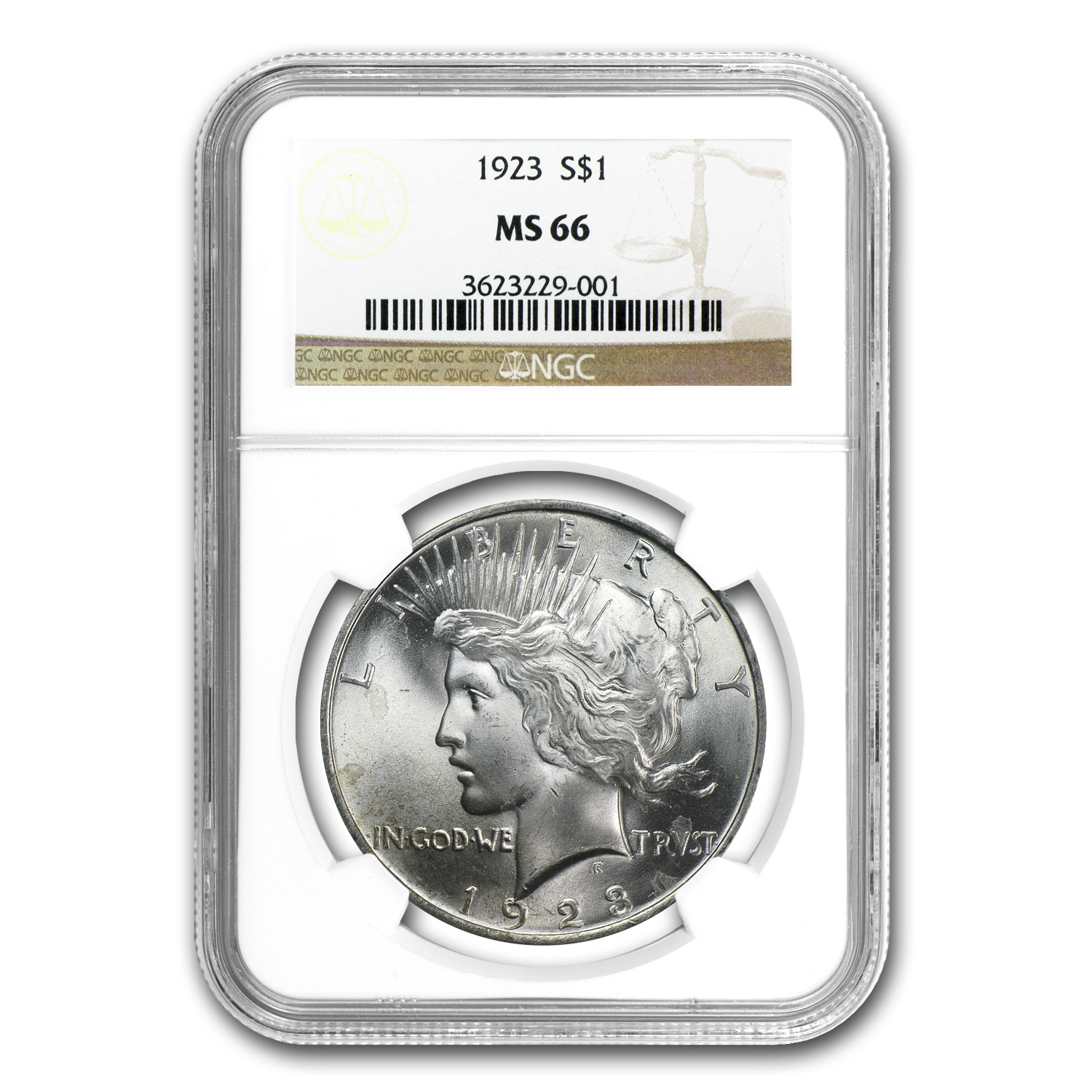 1922-1925 Peace Dollars - MS-66 NGC
