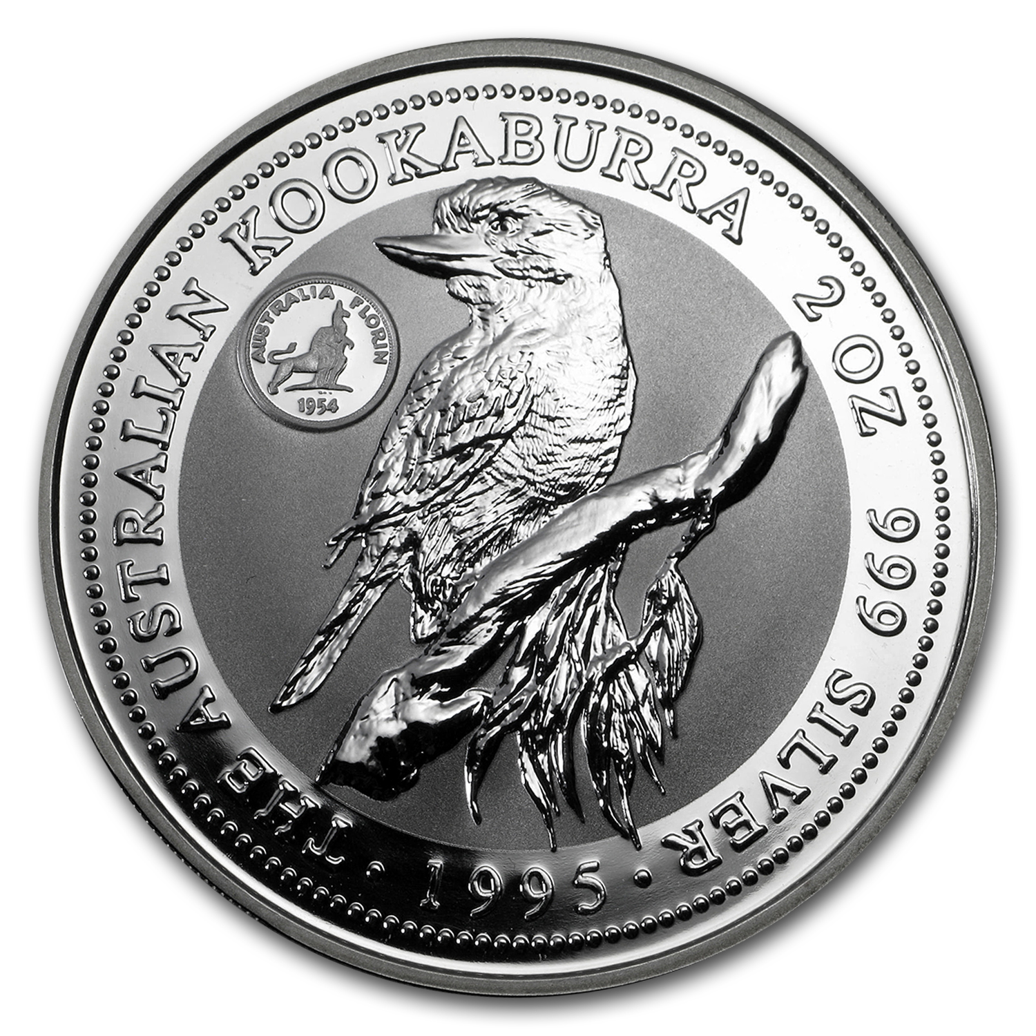 1995 2 oz Silver Kookaburra Proof (NAA Coin Fair Privy)
